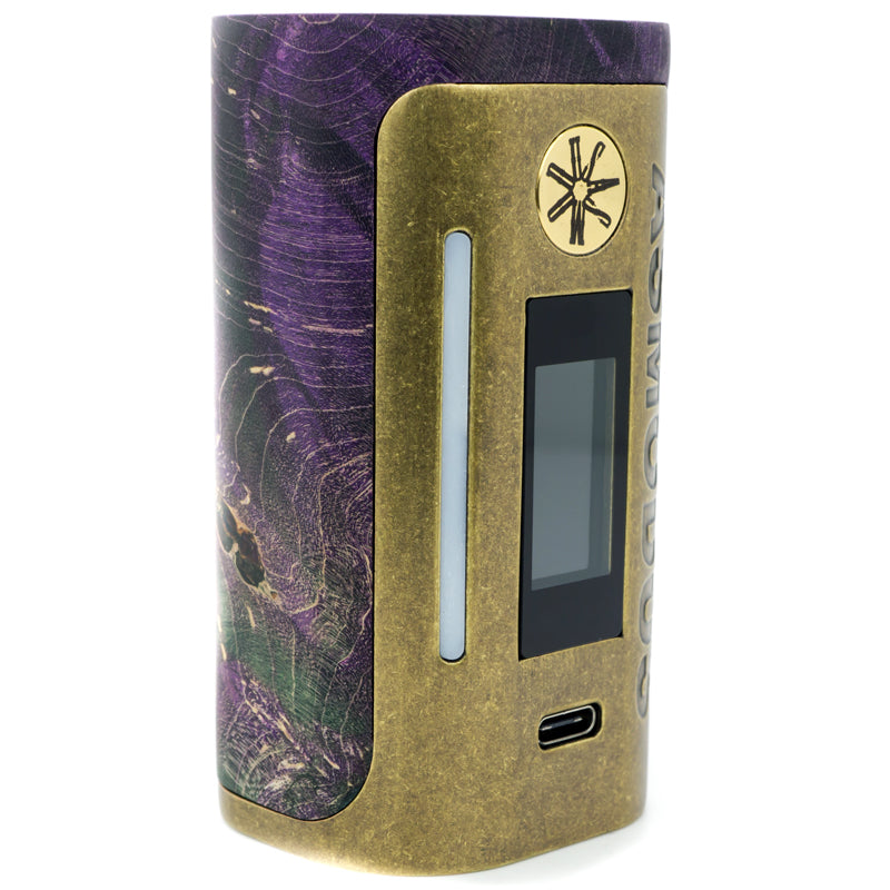 asMODus Lustro 200w Stabilized Wood Mod Brass Relic Edition