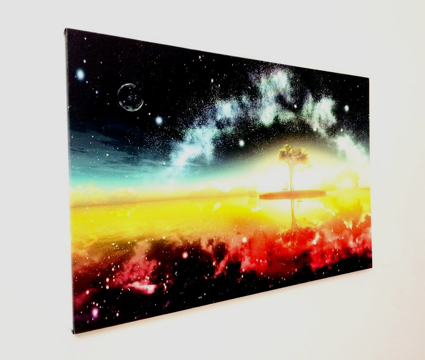 FANTASY SPACE Glow in the Dark Canvas Wall Art. Nightglow Canvas ...