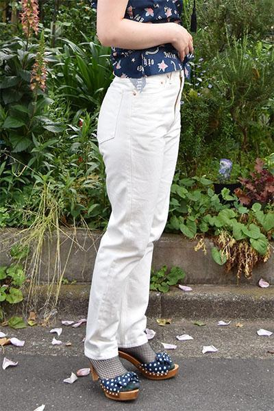 016 White Denim Tapered Slim Pants-WEAR-kiwandakiwanda-kiwandakiwanda