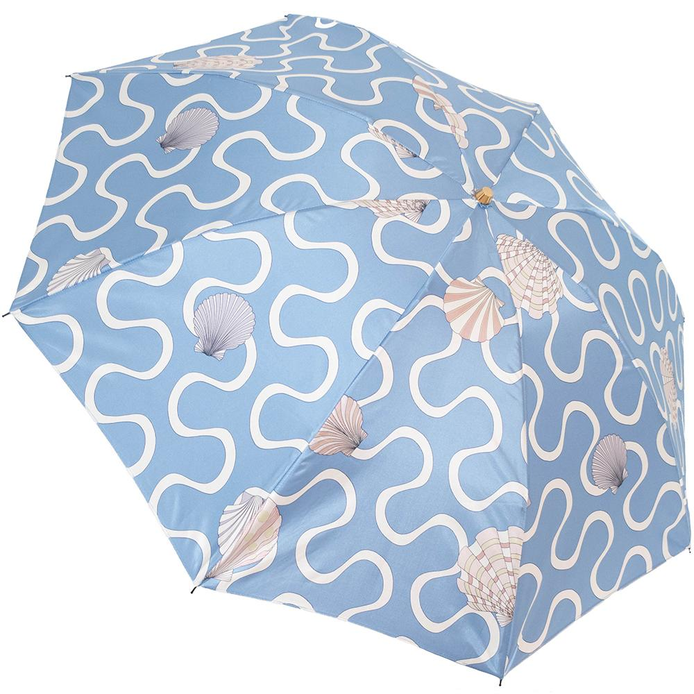 10th Anniv. Shell Folding 50cm-UMBRELLA-kiwandakiwanda-Aqua-kiwandakiwanda