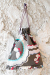 Butterfly Drawstring Bag Charcoal