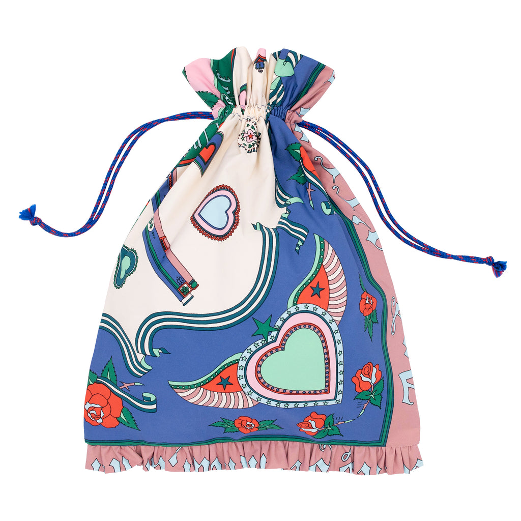 Romeo+Juliet Drawstring Bag Navy/Pink