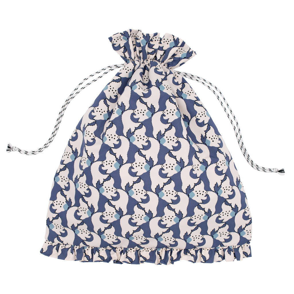 Kingyo Drawstring Bag Orient Blue