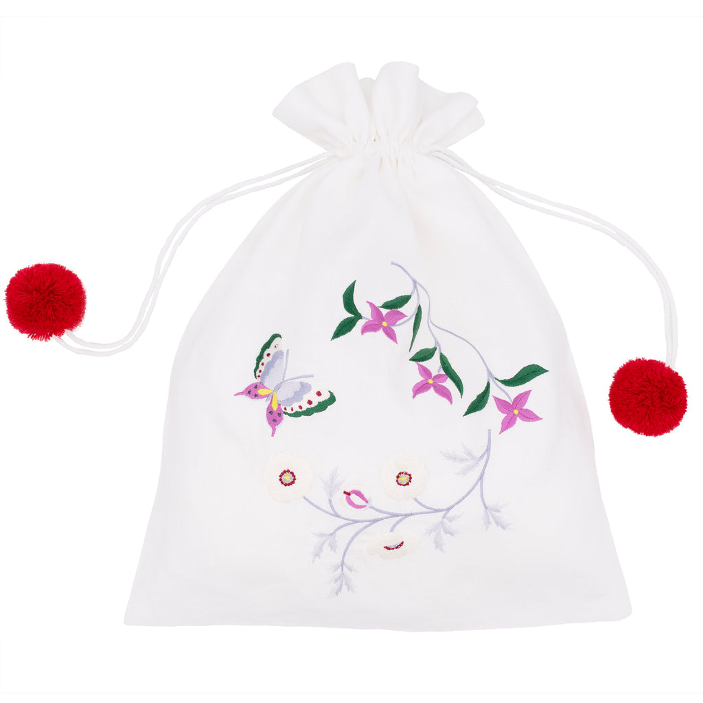 Hinageshi Drawstring Bag White