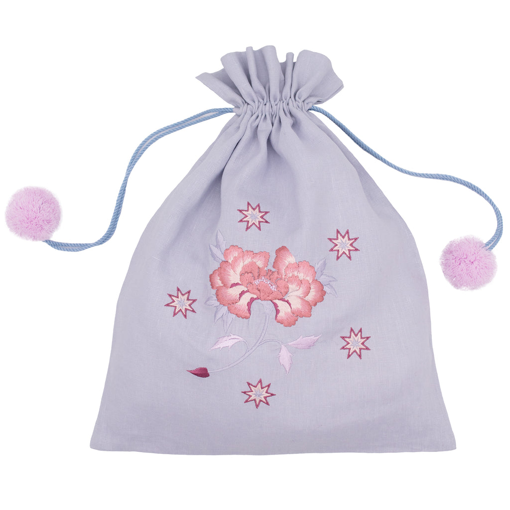 Botan Drawstring Bag Pale Blue