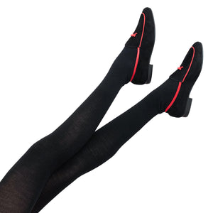 Wool Rib Standard Tights