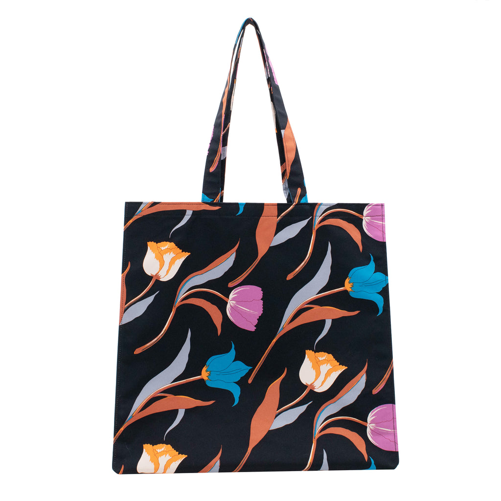 3 Tulips Rain Tote Bag Black