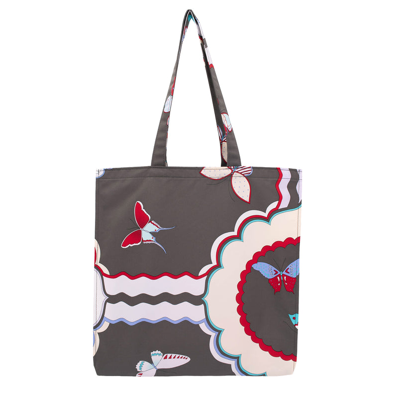 Butterfly Rain Tote Bag  Charcoal