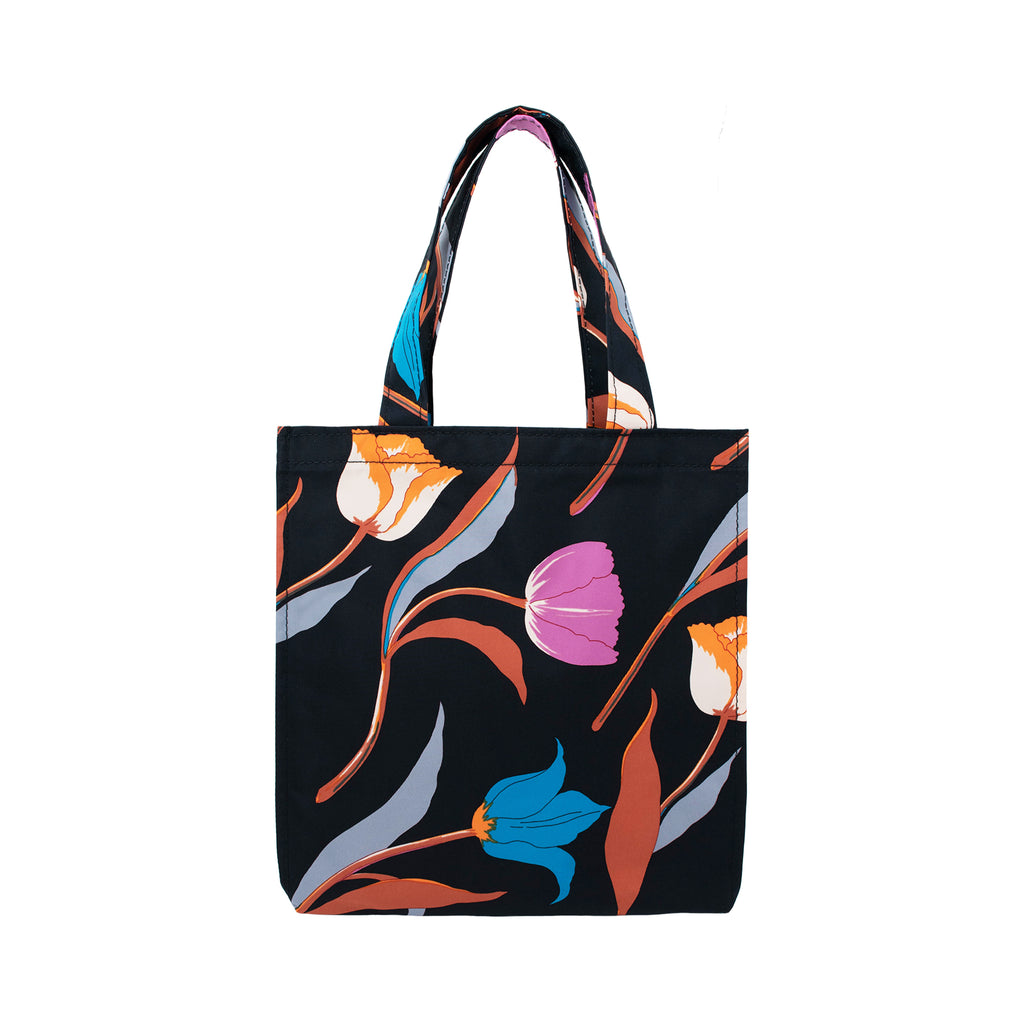 3 Tulips Rain Tote Bag S Black