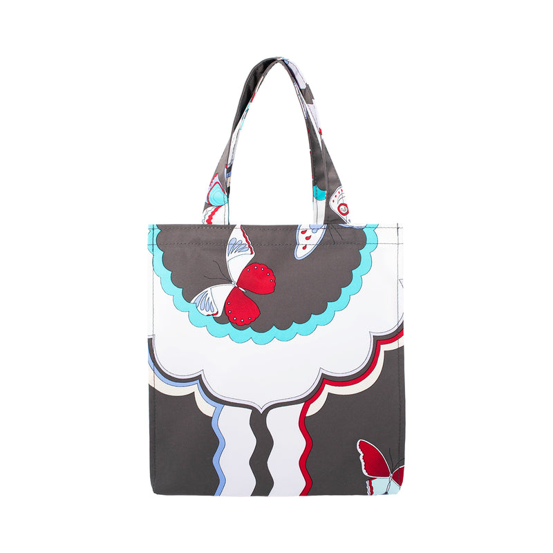 Butterfly Rain Tote Bag S Charcoal