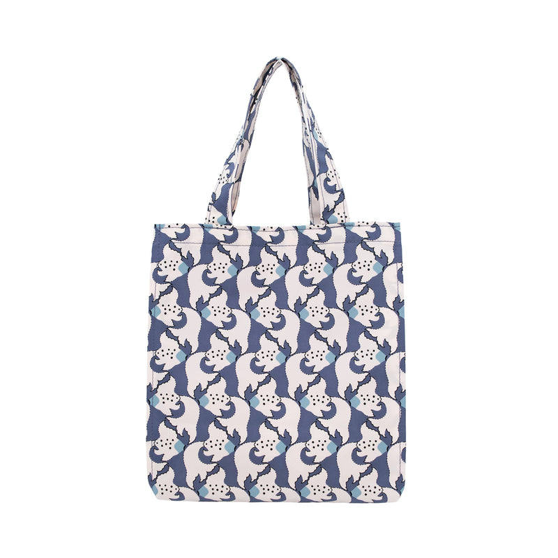 Kingyo Rain Tote Bag S Orient Blue