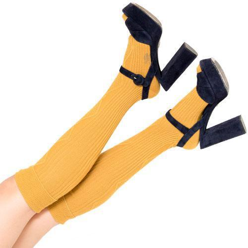Cable Knee-High Socks - kiwandakiwanda