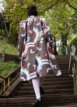 Elizabeth Rain Coat Butterfly Charcoal