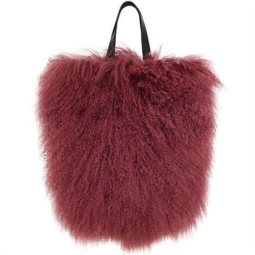 Fur Bag Large Mahogany Red-ACCESSORIES-kiwandakiwanda-kiwandakiwanda