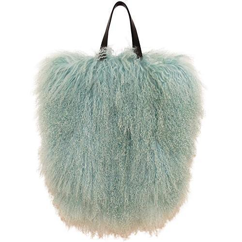 Fur Bag Large Mint Green-ACCESSORIES-kiwandakiwanda-kiwandakiwanda