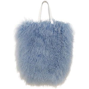 Fur Bag Large Smokey Blue-ACCESSORIES-kiwandakiwanda-kiwandakiwanda