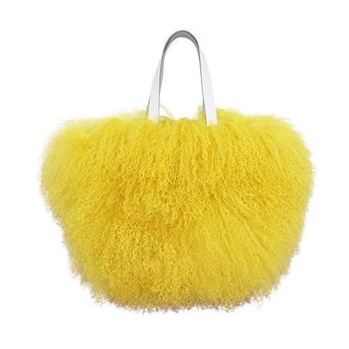 Fur Bag Small Canary Yellow-ACCESSORIES-kiwandakiwanda-kiwandakiwanda
