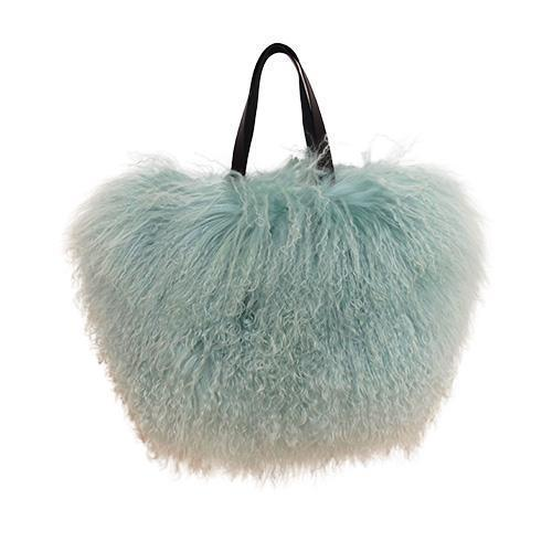 Fur Bag Small Mint Green-ACCESSORIES-kiwandakiwanda-kiwandakiwanda