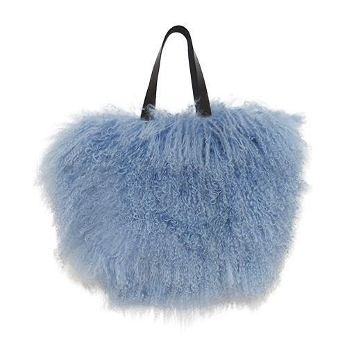 Fur Bag Small Smokey Blue-ACCESSORIES-kiwandakiwanda-kiwandakiwanda