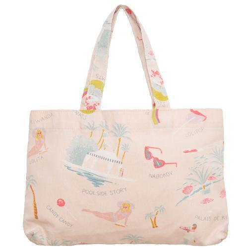 Lolita Mini Tote Bag Shell Pink-ACCESSORIES-kiwandakiwanda-kiwandakiwanda