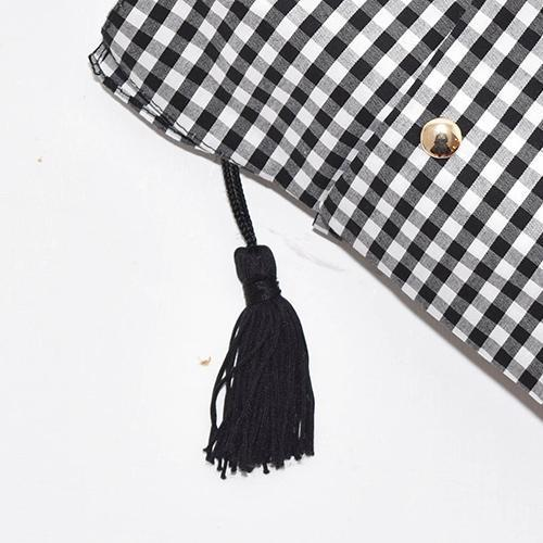 Marilyn Gingham Check Folding 50cm-UMBRELLA-kiwandakiwanda-kiwandakiwanda