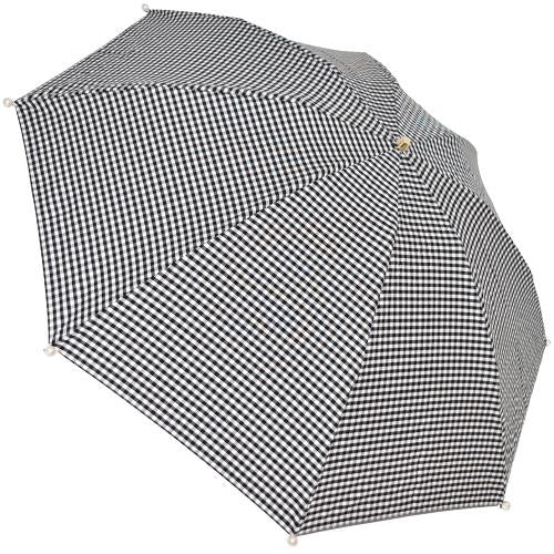 Marilyn Gingham Check Folding 50cm-UMBRELLA-kiwandakiwanda-Black-kiwandakiwanda