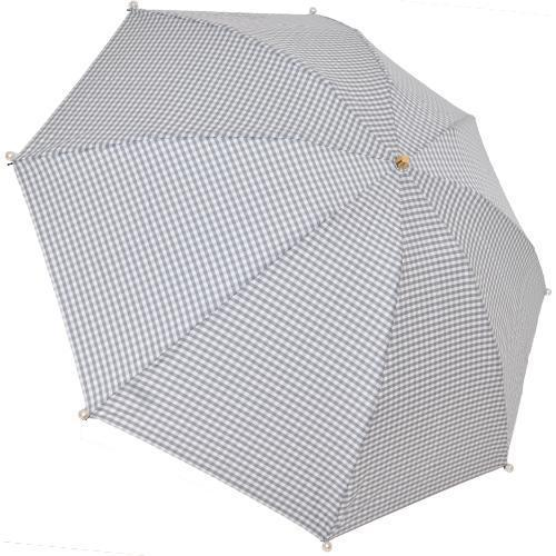 Marilyn Gingham Check Folding 50cm-UMBRELLA-kiwandakiwanda-Light Gray-kiwandakiwanda