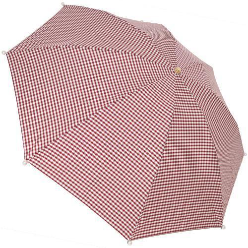Marilyn Gingham Check Folding 50cm-UMBRELLA-kiwandakiwanda-Marron-kiwandakiwanda