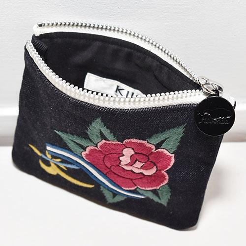 Rose Tatoo Makeup Pouch-ACCESSORIES-kiwandakiwanda-kiwandakiwanda