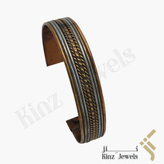 kinzjewels - Unisex Solid Copper Magnetic Negative Ions Bracelet