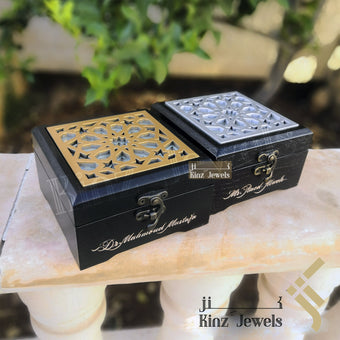 kinzjewels - Kinz Handcrafted Solid Wooden Arabian Pattern Box