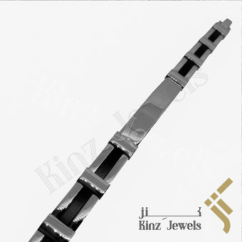 kinzjewels - Personalized Bold Man High Quality Stainless Steel Rubber Bracelet