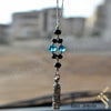 kinzjewels - Kinz Silver Car Mirror Hanging or Keychain Black Sea Protective Capsule - The Throne Verse
