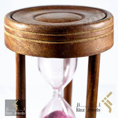 kinzjewels - Personalized Hourglass Rosewood Sand Clock