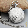 kinzjewels - Personalized Mechanical Silver Elegant Pocket Watch