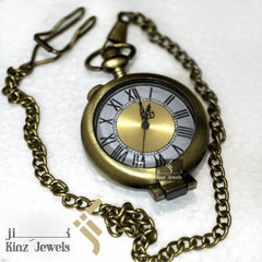 kinzjewels - Personalized Golden Brass Magnifier Pocket Watch