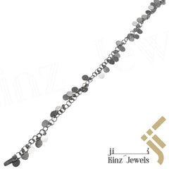 kinzjewels - Sterling Silver Small Rounded Shapes Anklet