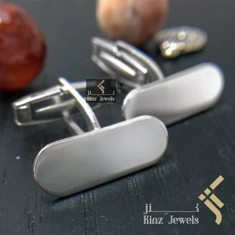kinzjewels - Personalized Sterling Silver Italian Cufflinks Capsule - Arabic or English