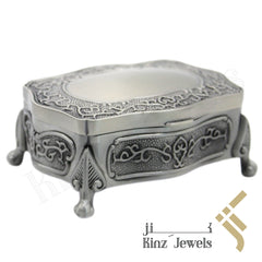 kinzjewels - Personalized Vintage Jewelry Box High Quality Alloy Antique Velvet Fancy