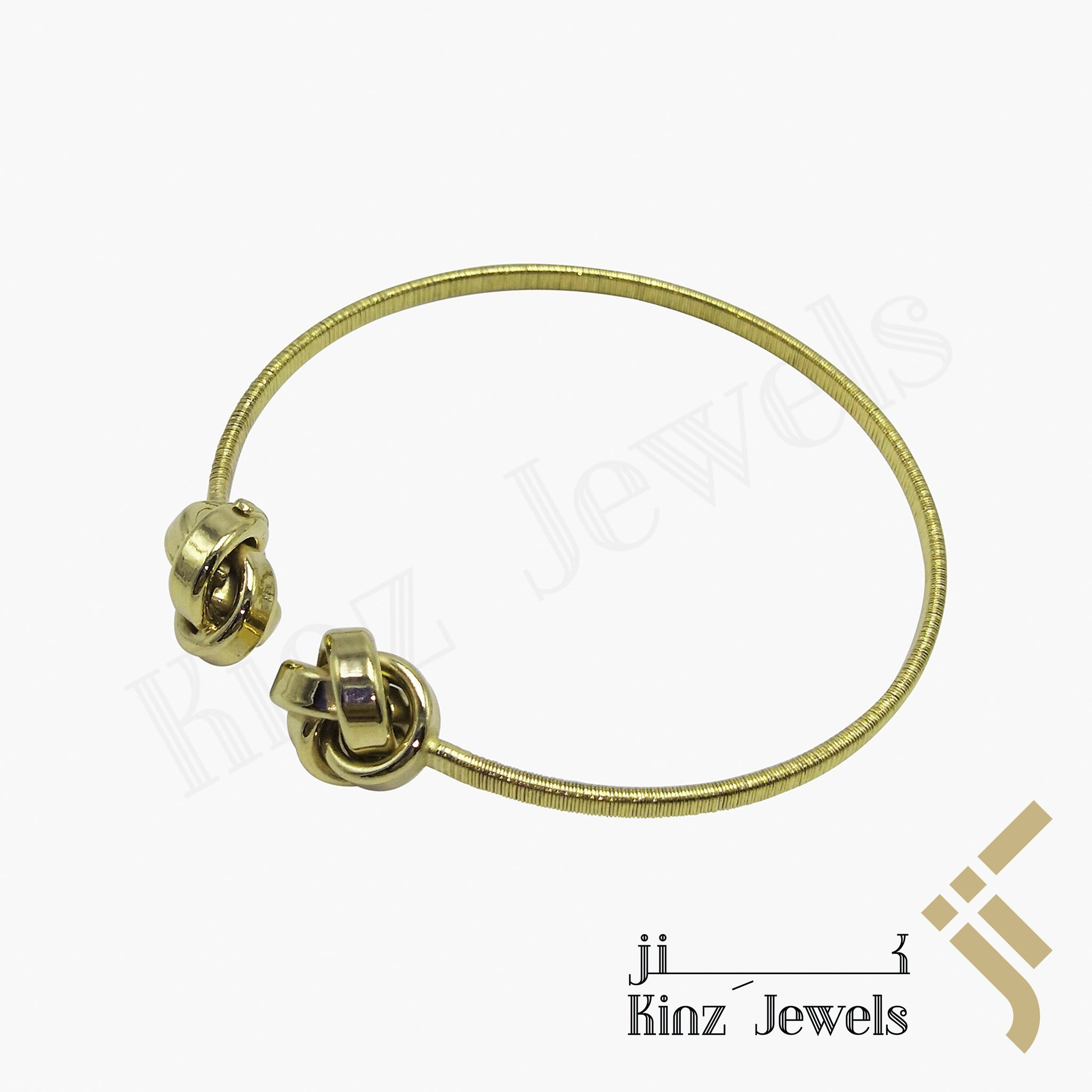 kinzjewels - Premium Adjustable Silver Bracelet Gold Vermeil Knots