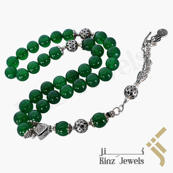 kinzjewels - Kinz Silver Prayer Beads Jade