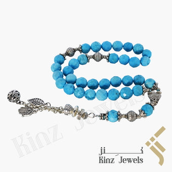 kinzjewels - Kinz Prayer Beads Laser Cut Turquoise