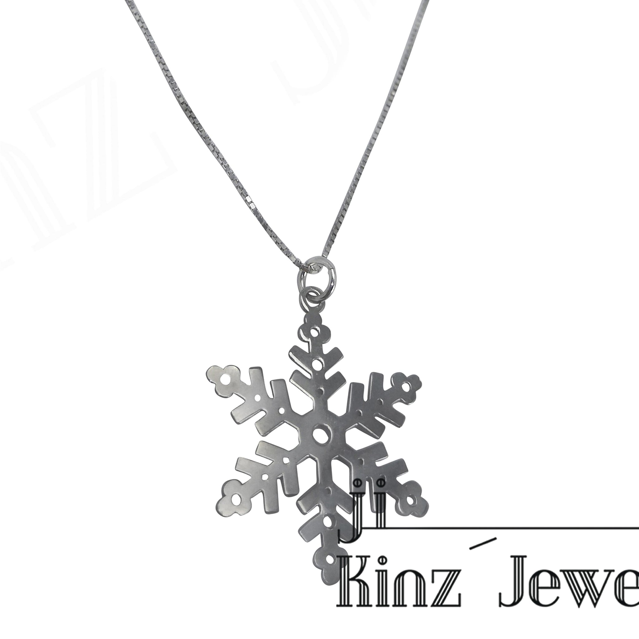 kinzjewels - Sterling Silver Snowflake Necklace
