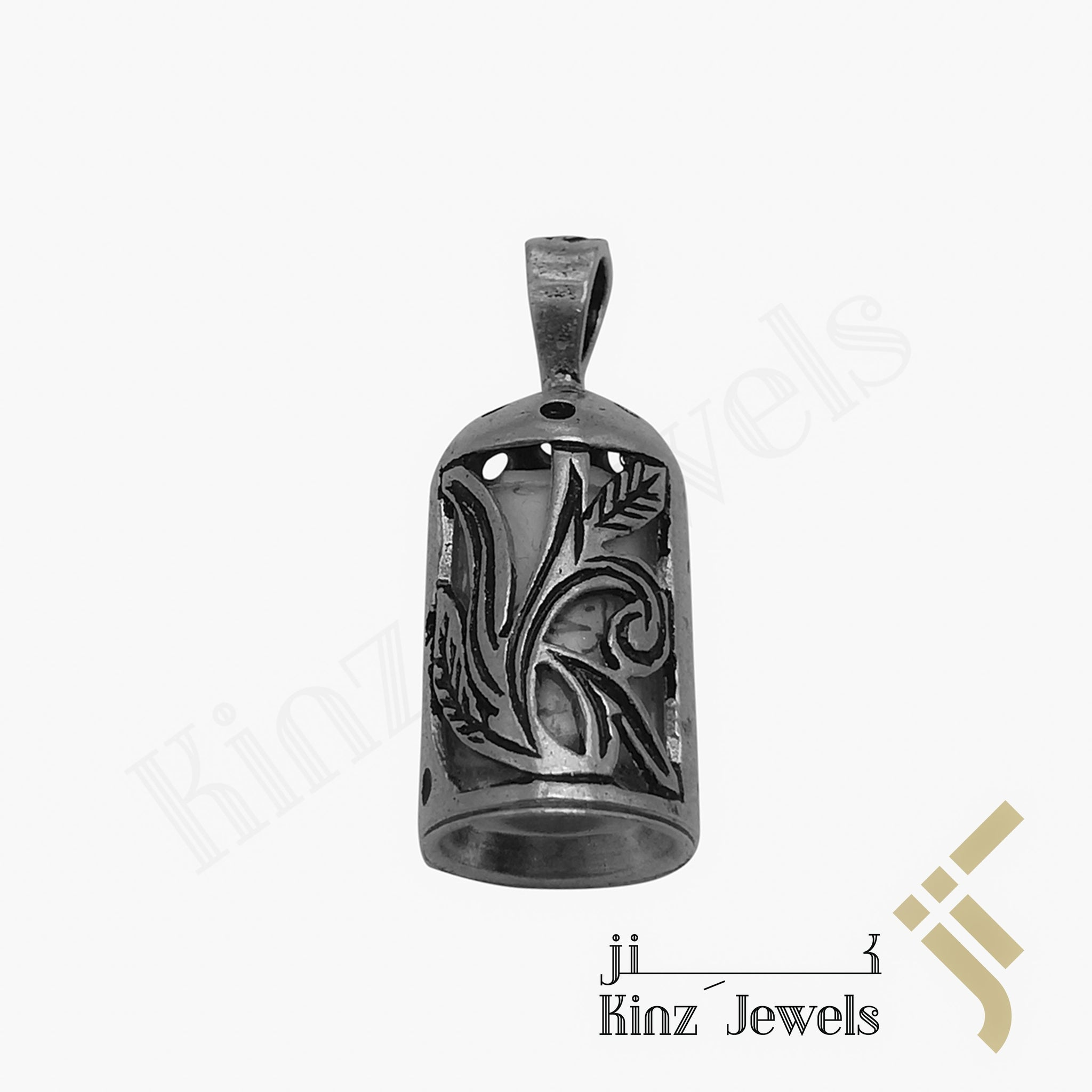 kinzjewels - Silver Glass Protective Capsule Small - The Throne Verse