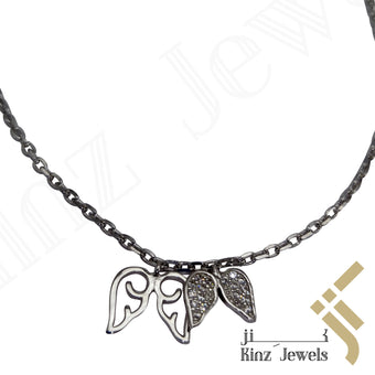 kinzjewels - Sterling Silver Angel Wings Anklet