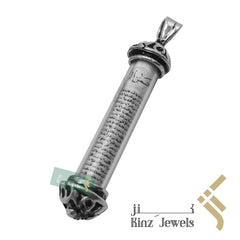 kinzjewels - Silver Glass Protective Capsule Long - The Throne Verse