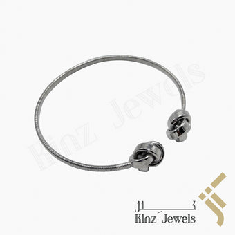 kinzjewels - Premium Adjustable Silver Bracelet Knots