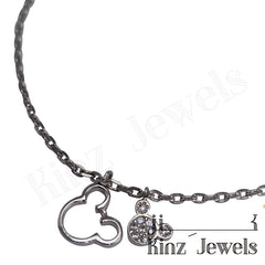 kinzjewels - Sterling Silver Mickey Mouse Anklet