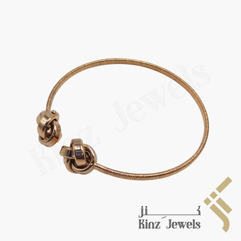 kinzjewels - Premium Adjustable Silver Bracelet Rose Gold Vermeil Knots