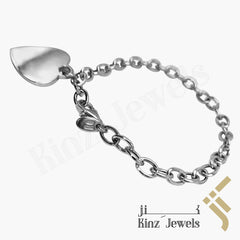 kinzjewels - Personalized Sterling Silver Heart Bracelet